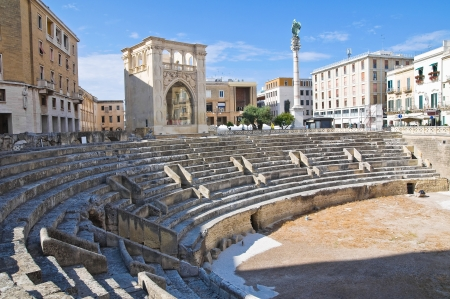 puglia: Roman Amphitheatre  Lecce  Puglia  Italy  Stock Photo