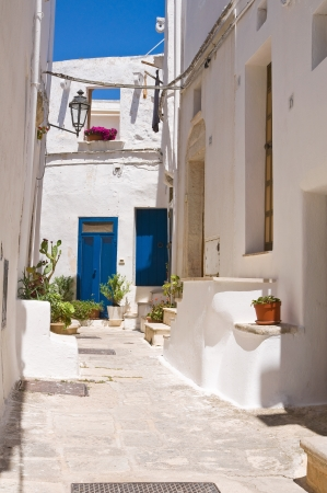 Alleyway. Ostuni. Puglia. Italy. photo