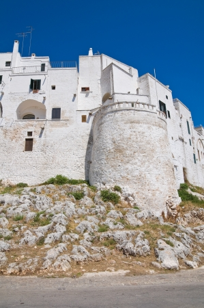 fortified: Fortified walls. Ostuni. Puglia. Italy.