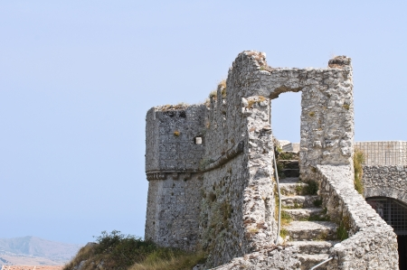monte santangelo: Castle of Monte Santangelo  Puglia  Italy  Stock Photo