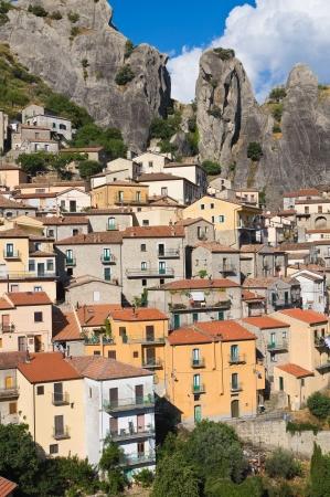 Panoramic view of Castelmezzano  Basilicata  Italy  photo