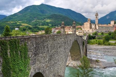 Hunchback Bridge. Bobbio. Emilia-Romagna. Italy. Imagens