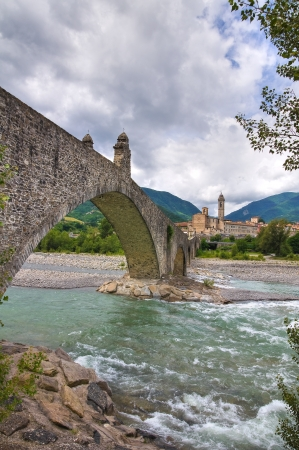 Hunchback Bridge  Bobbio  Emilia-Romagna  Italy  Stock Photo - 14437578