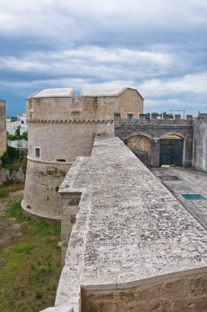 crenellated: De Monti Castle of Corigliano di Otranto  Puglia  Italy  Editorial