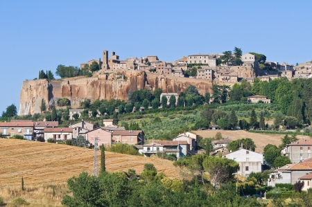 umbria: Panoramic view of Orvieto. Umbria. Italy. Stock Photo