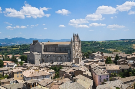 Panoramic view of Orvieto  Umbria  Italy