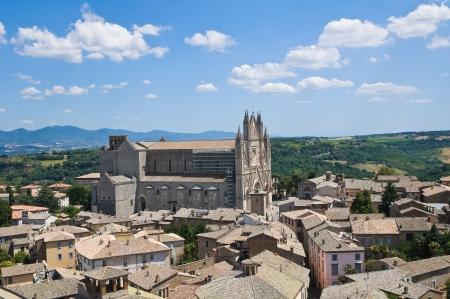 terni: Panoramic view of Orvieto  Umbria  Italy