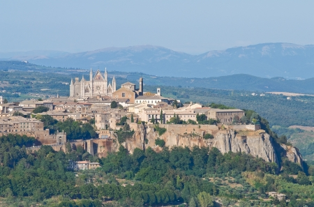 umbria: Panoramic view of Orvieto  Umbria  Italy