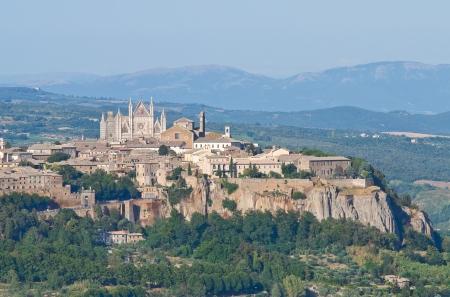 Vista panoramica di Orvieto Umbria Italia Archivio Fotografico