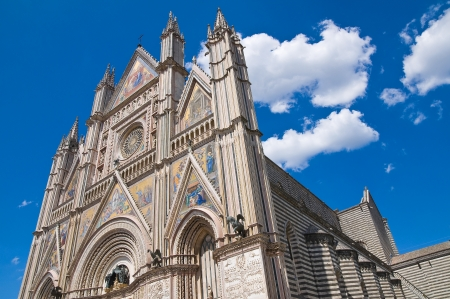 umbria: Cathedral of Orvieto. Umbria. Italy. Stock Photo