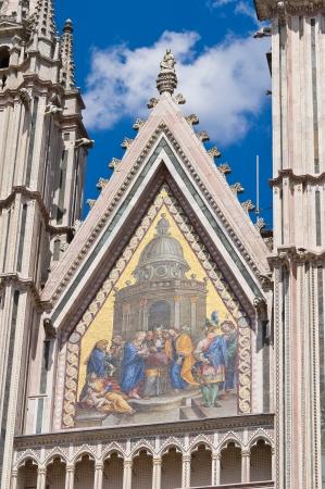 pinnacle: Cathedral of Orvieto. Umbria. Italy. Stock Photo