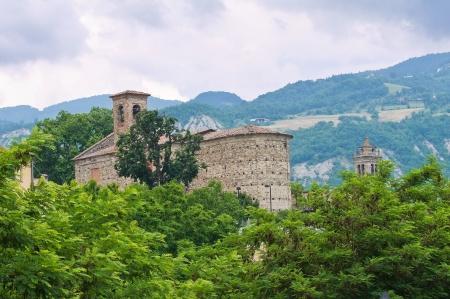 emilia romagna: Panoramic view of Bobbio. Emilia-Romagna. Italy.