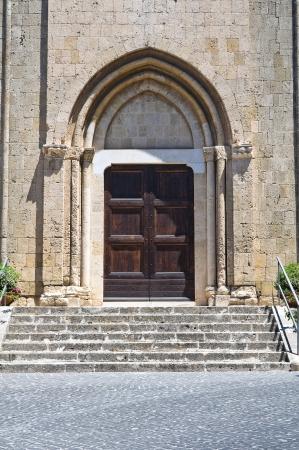 wood panelled: Church of St. Francesco. Tarquinia. Lazio. Italy.