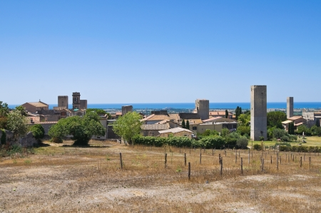 Panoramic view of Tarquinia. Lazio. Italy. photo