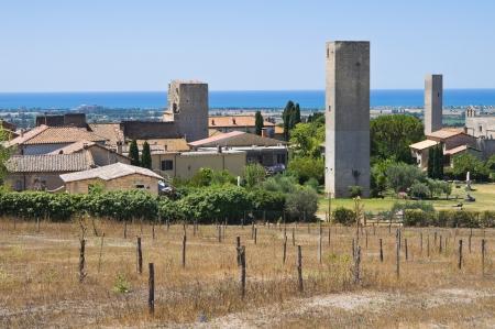 Panoramic view of Tarquinia. Lazio. Italy. Stock Photo - 14743440