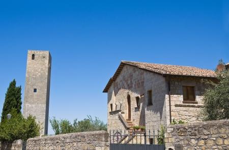 Tower and Campo Cialdi  Tarquinia  Lazio  Italy
