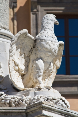 etrurian: Monumental fountain. Tarquinia. Lazio. Italy.