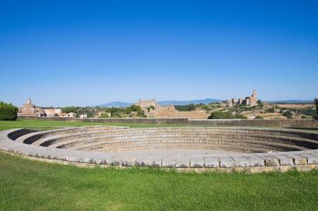 etrurian: Panoramic view of Tuscania. Lazio. Italy.