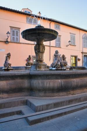 lazio: Monumental fountain. Tuscania. Lazio. Italy.