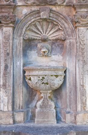 tuscania: Giannotti fountain. Tuscania. Lazio. Italy.