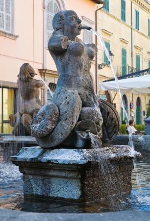 tuscania: Fountain of Poggio. Tuscania. Lazio. Italy.