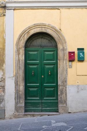 tuscania: Wooden door. Tuscania. Lazio. Italy.