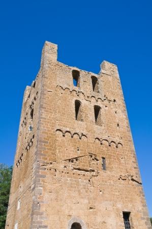 tuscania: St. Maria Maggiore Belltower Basilica. Tuscania. Lazio. Italy. Stock Photo