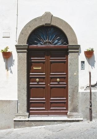 viterbo: Wooden door. Viterbo. Lazio. Italy. Editorial