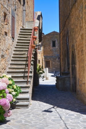 etrurian: Alleyway  Civita di Bagnoregio  Lazio  Italy