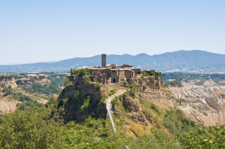 Panoramic view of Civita di Bagnoregio  Lazio  Italy  photo