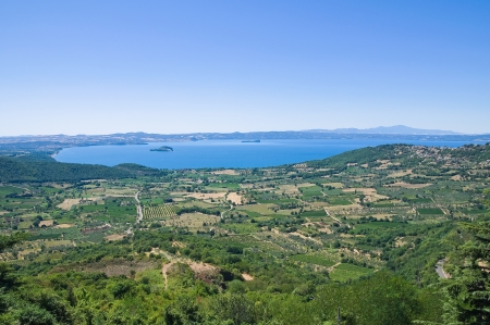 lake dwelling: Panoramic view of Montefiascone  Lazio  Italy