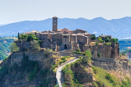 Panoramic view of Civita di Bagnoregio. Lazio. Italy. Stock Photo - 14951009