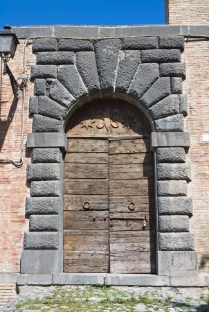 lazio: Wooden door  Bolsena  Lazio  Italy