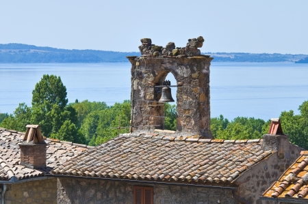 lake dwelling: Panoramic view of Bolsena. Lazio. Italy.