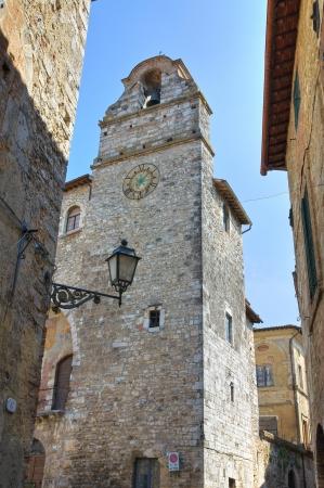 clocktower: Alleyway  San Gemini  Umbria  Italy