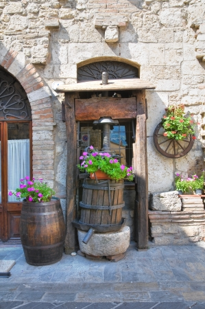 Alleyway  San Gemini  Umbria  Italy Imagens - 15176130