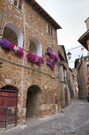 lazio: Alleyway  Sutri  Lazio  Italy  Stock Photo