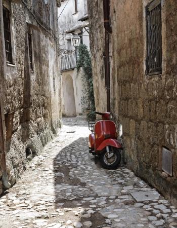 lazio: Alleyway  Calcata  Lazio  Italy