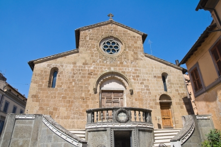 etrurian: Church of St. Francesco. Capranica. Lazio. Italy. Stock Photo