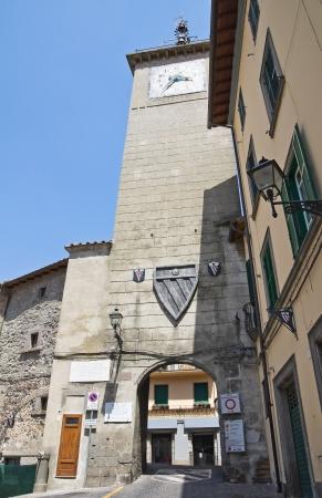 Clocktower. Soriano nel Cimino. Lazio. Italy. Stock Photo - 15255550