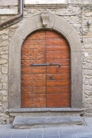 vitorchiano: Wooden door. Vitorchiano. Lazio. Italy.