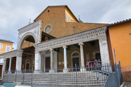 portico: Cathedral of Civita Castellana  Lazio  Italy