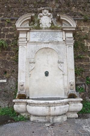 castellana: Monumental fountain  Civita Castellana  Lazio  Italy  Stock Photo