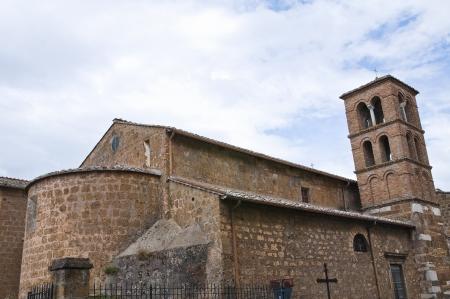 etrurian: Church of Carmine  Civita Castellana  Lazio  Italy  Stock Photo