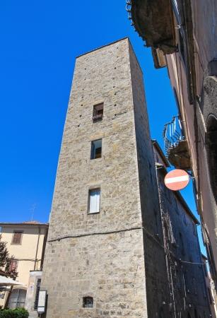 lazio: Borgognone tower. Viterbo. Lazio. Italy. Stock Photo