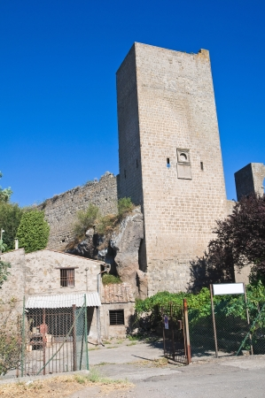 fortified: Fortified walls. Viterbo. Lazio. Italy.  Stock Photo