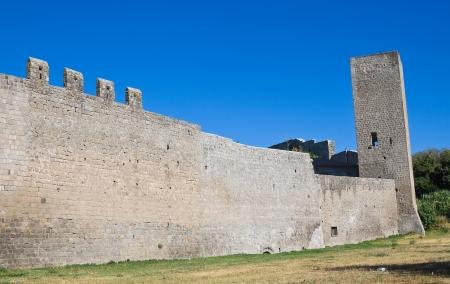 etrurian: Fortified walls. Viterbo. Lazio. Italy.  Stock Photo