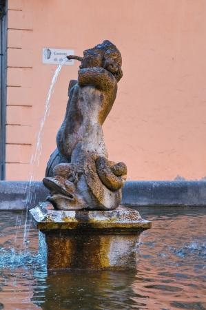etruscan: Fountain of Poggio. Tuscania. Lazio. Italy.