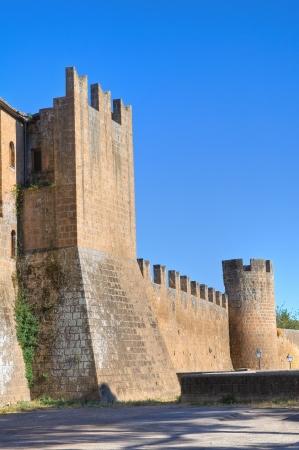 etrurian: Fortified walls. Tuscania. Lazio. Italy.
