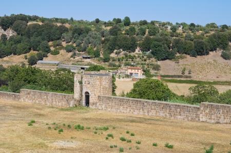 tuscania: Fortified walls. Tuscania. Lazio. Italy.
